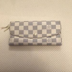 Louis Vuitton Emilie Damier Azu Canvas Wallet